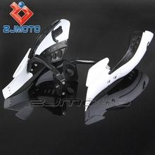 "HG-040-WT White ZJMOTO Chinese motorcycle part Brush Bar 7/8"" 22mm Dirt bike handguard, hand guards fit for RMZ RM KX SX KTM"