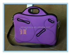 "14"" 15.6"" 17"" computer shoulder bag customized laptop bag china factory neoprene laptop sleeve with zipper"