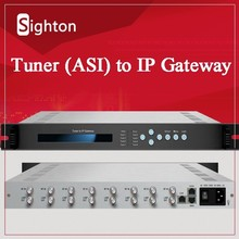 8 DVB-C in UDP Gigabit out IP Gateway;DVB S2 S Tuner to IP Gateway for IPTV System