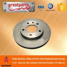 High quality brake disc for MAZDA MX-6/626/EUNOS/PREMACY/FAMILIA ,high performance brake disc