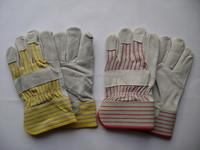 Cow split leather safety work gloves