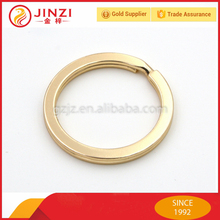 gold color 1 inch flat style iron key ring