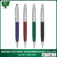 Feature matte brass office stationery twist ball pen