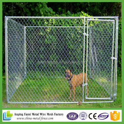 2016 new products hot dip galvanized chain link 10ftx10ftx6ft dog kennel cage