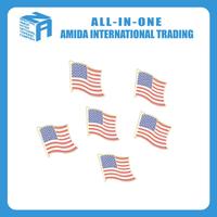 custom flag pin metal bag emblem