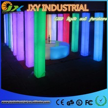 Popular Colorful Advertising LED Lighted square Column/ lighting column for advertising /wedding