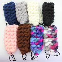 Korean Style Hair Accessorie Women Handmade Weave Wool knitted cute Hairband Headbands for girls long hair/