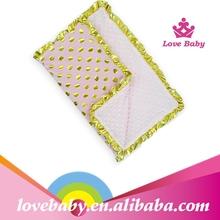 Pink princess baby polka dot heat blanket for indfants