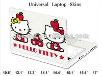 Hot!!! Laptop Hello Kitty design Skin protector, Customization for any dimension or size is available