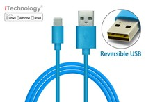 MFI approved 8 pin reversible usb cable, sync and charge cable for iphone6 and ipad4