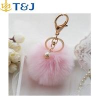 >> Keychain Cute Simulation Rabbit Fur Ball Key Chain For Car Key Ring Car Ornaments/