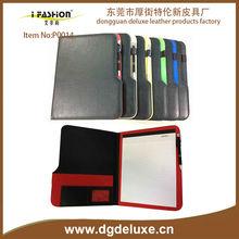 a3/a4/a5 china dongguan manufacturer 2016/2017 pu leather custom certificate portfolio compendium folder portfolio padfolio