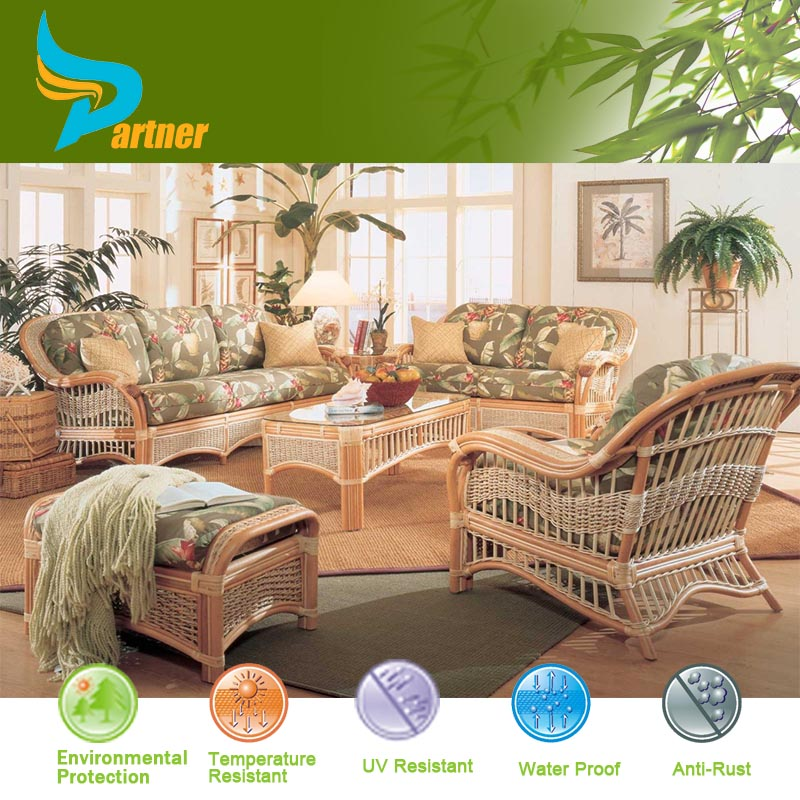exporter antique exotic cheap rattan sofa set outdoor indoor furniture