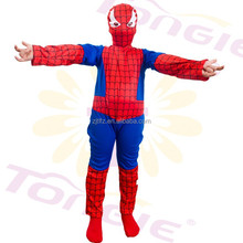 Wholesale spandex kids carnival jumpsuit superhero spiderman costume for children