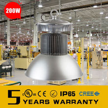high power industrial high bay led light 200w ip65 with 5 year warranty