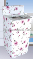 Water proof washing machine protective cover, thick plastic with flannel in middle part cover for washing machine