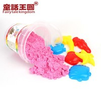 Wholesale Colorful kidsplay sand 800g in plastic bottle with 4 sand models