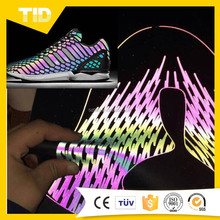 Glow inThe Dark reflective synthetic pu leather for shoes