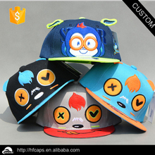 6 panel flat brim two tone custom baby snapback hat custom