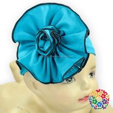 2015 Lastest Cheapest Infant Cotton Flower Headwear Polka Dot Princess Headband Girl's Party Hair Accessories