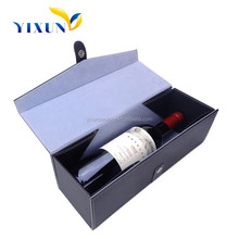Factory Manufacture Luxury Nice Design Leather Paper Cover Cardboard Materials With Lock Wine Glass Cardboard Gift Box