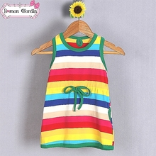 Baby girl T-shirt Colorful rainbow T-shirt for 2-7 Y girl