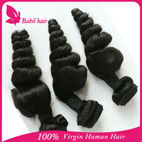 Superb quality better price cheap 6a brazilian loose wave hair bundles