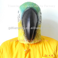 Latex Animal Costume mask Halloween Party mask Parrot Head mask