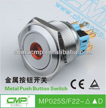 CMP brand 25mm MP025S/F22--D metal push button switch , stainless steel push button switch , vandalproof push button switch