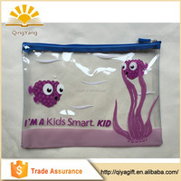 custom kids clear pvc transparent plastic unbranded school pencil case for teenagers