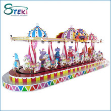 Factory direct sales 8 seats amusement park ride kids coin operated indoor fairground used electric carousel for sale
