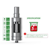 Adjustable oilflow control100% organic cotton ni200coil big vapor e cigarette / electronic cigarette atomizer tank
