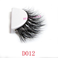 Wholesale New fashion 100% real siberian mink strip fur false eyelash mink lashes fake crisscross eyelashes extensions D012
