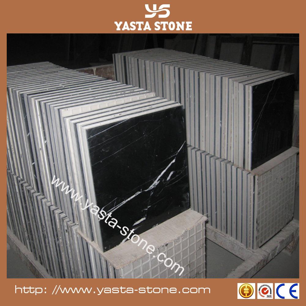 pas cher noir marquina marbre 12 mm brillant rev tement de. Black Bedroom Furniture Sets. Home Design Ideas