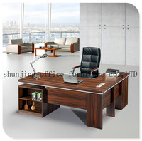 HT-536 Metal Legs Office Desk L shaped Office Executive Computer table