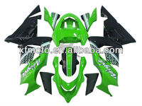 For 04-05 Kawasaki ZX10R ZX-10R Green Black Injection Plastic Fairing Body Work