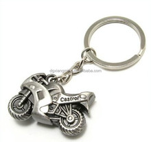 Motorcycle Chain Link Keychain Stainless Steel Metal Keychain Pendant