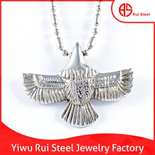 fashion 316l stainless steel hawk eagle pendant