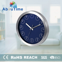2015 individual style luxury metal kitchen wall clock