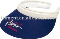 100% cotton visor with terry cloth sweatband