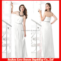 HB0043 A-line whole length sleeveless 2015 alibaba elegant princess wedding white organza bridesmaid dress