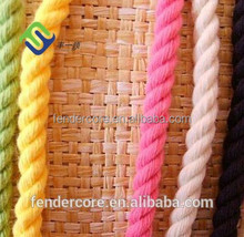 Multi Colored 3-Strand Twisted 100% Cotton Rope