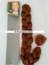2015 hot sell black person 82 inch 165 gram xpression braid hair kanekalon various colors
