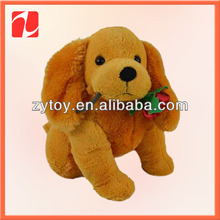 Stuffed promotional giveaway toys plush dog for 2014 world cup