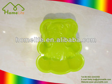 High quality Colorful new design cute shapes bear shaped silicone cake mould,Mini silicone bear shaped cake moulds
