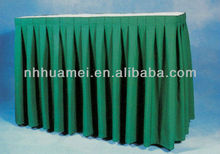 100% polyester banquet table skirt