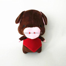 Wholesale Soft Plush Toys Pig / Stuffed Pig Toys With Red Bellyband