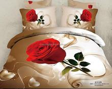 ONLY USD14 3D duvet cover set bed sheet set comforter in romantic flower designs