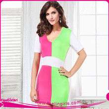 wholesale fashion color combinations of dresses