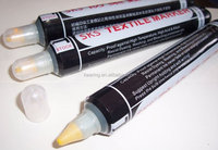 SKS brand, black colour pen-holder rubber bulb textile marker, 65ml permanent ink yellow/black/red for knitting and dying #TMS25